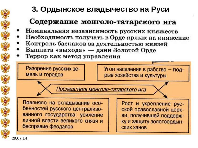 * 3. Ордынское владычество на Руси