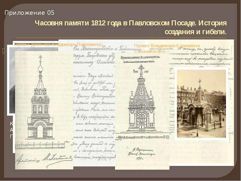Часовня памяти 1812 года в Павловском Посаде. История создания и гибели. Иван...