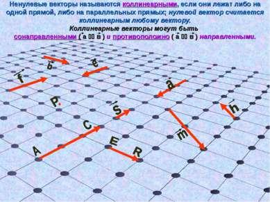 Ненулевые векторы называются коллинеарными, если они лежат либо на одной прям...