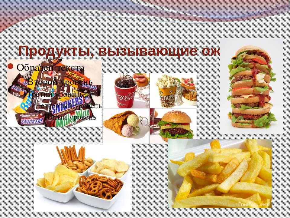 Продукты, вызывающие ожирение