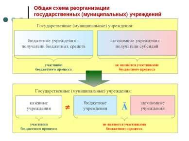 Общая схема реорганизации государственных (муниципальных) учреждений бюджетны...