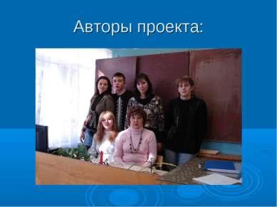 Авторы проекта:
