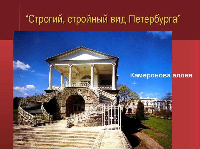 """""""Строгий, стройный вид Петербурга"""" Камеронова аллея"""