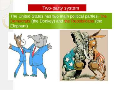 The United States has two main political parties: The Democrats (the Donkey) ...