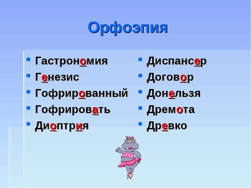 Орфоэпия Гастрономия Генезис Гофрированный Гофрировать Диоптрия Диспансер Дог...