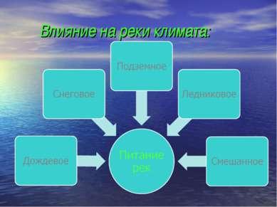 Влияние на реки климата: