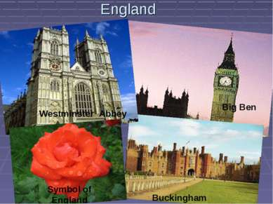 England Westminster Abbey Big Ben Buckingham Symbol of England