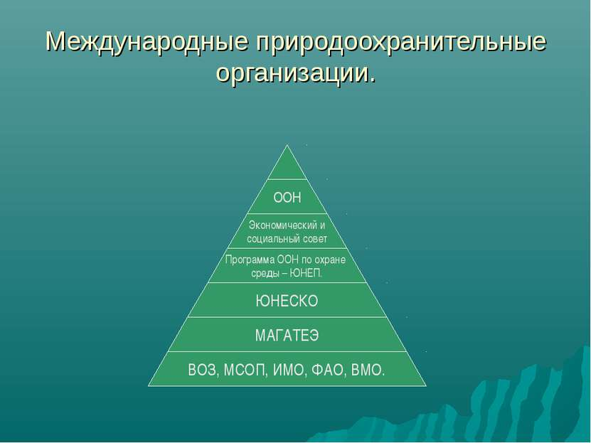 Международные природоохранительные организации.