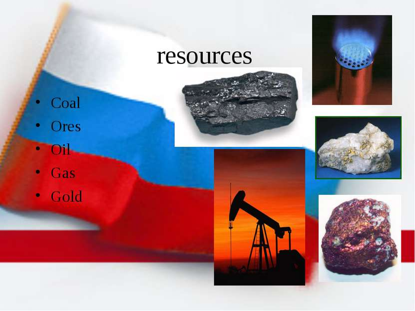 resources Coal Ores Oil Gas Gold
