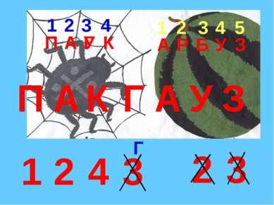 П 1 2 3 4 1 2 3 4 5 1 2 3 4 2 3 П А К Г А У З А У К А Р Б У З Г Г