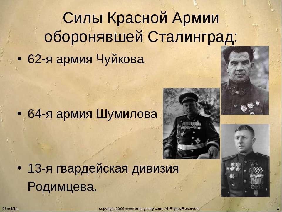 * copyright 2006 www.brainybetty.com; All Rights Reserved. * Силы Красной Арм...