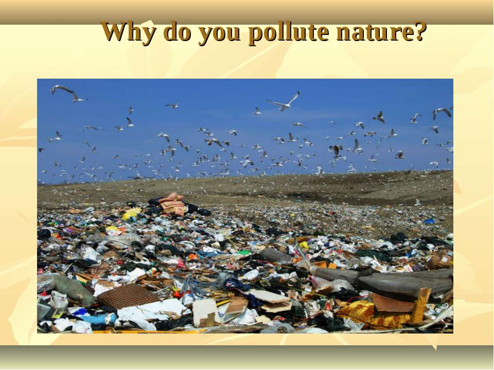 Why do you pollute nature?
