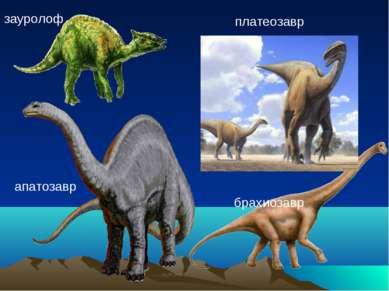 зауролоф платеозавр брахиозавр апатозавр