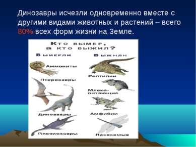 Динозавры исчезли одновременно вместе с другими видами животных и растений – ...