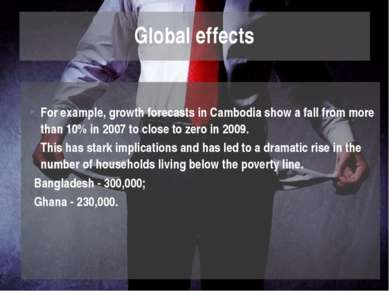 For example, growth forecasts in Cambodia show a fall from more than 10% in 2...