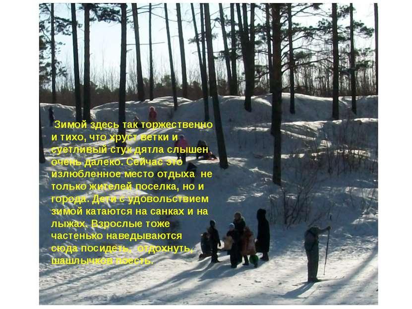 Зимой здесь так торжественно и тихо, что хруст ветки и суетливый стук дятла с...