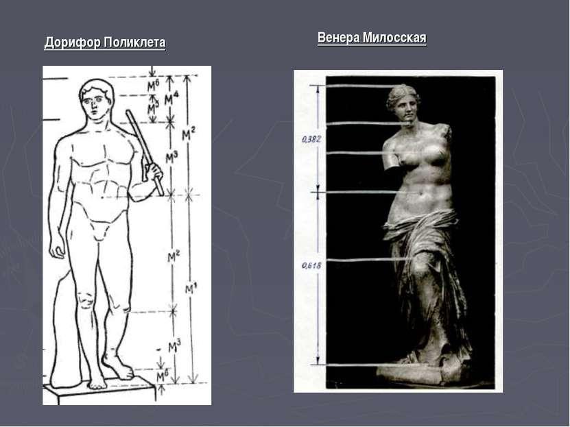 Дорифор Поликлета Венера Милосская