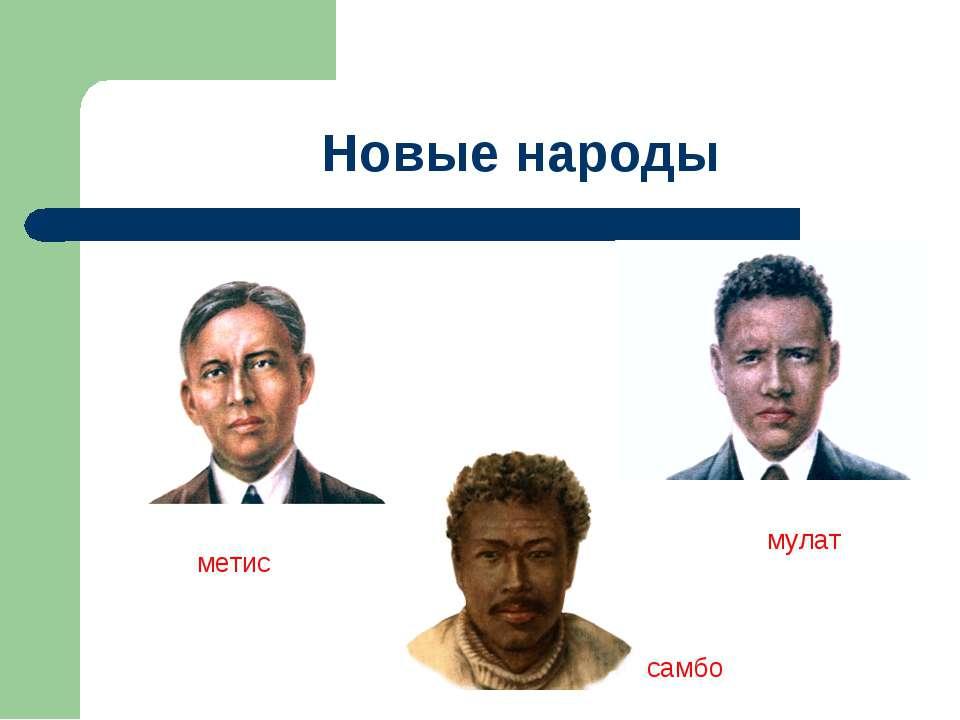 самбо мулат метис Новые народы