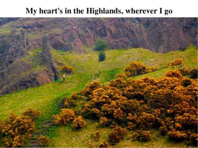 My heart's in the Highlands, wherever I go