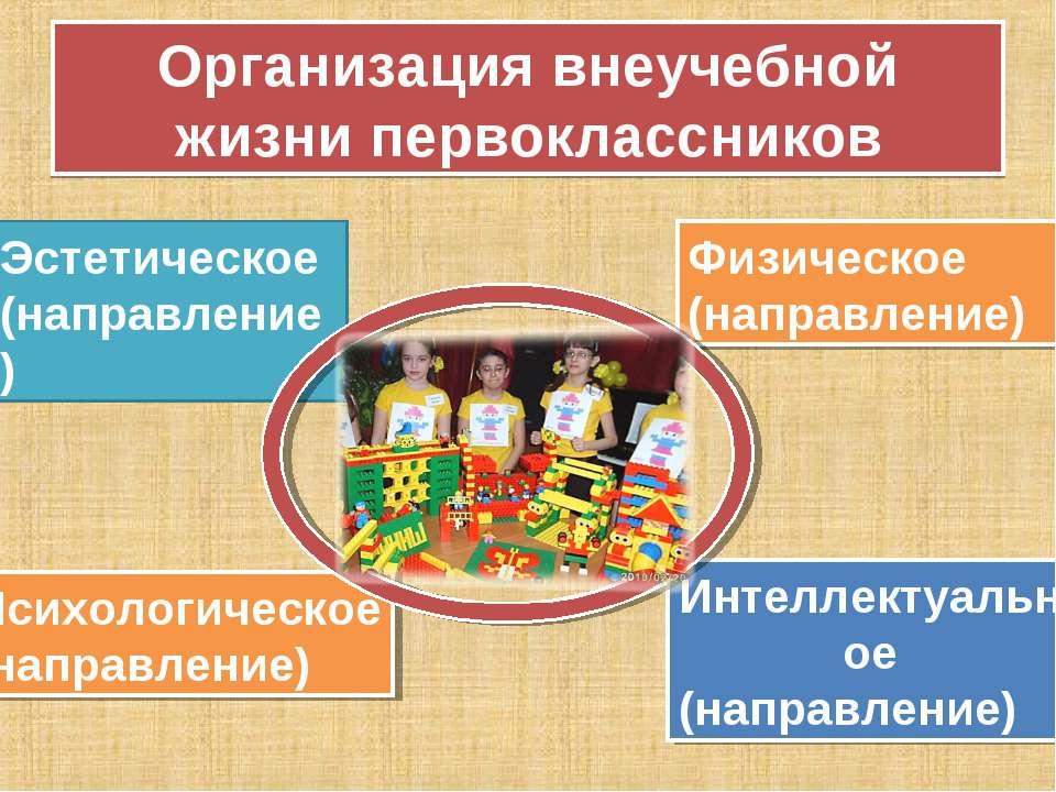 Организация внеучебной жизни первоклассников Эстетическое (направление) Физич...