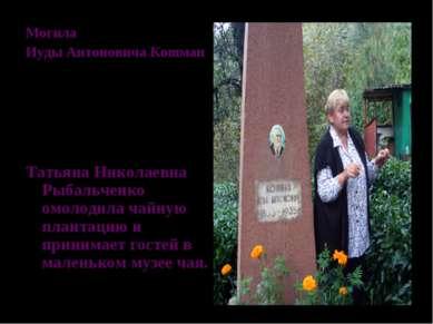 Могила Иуды Антоновича Кошман Татьяна Николаевна Рыбальченко омолодила чайную...