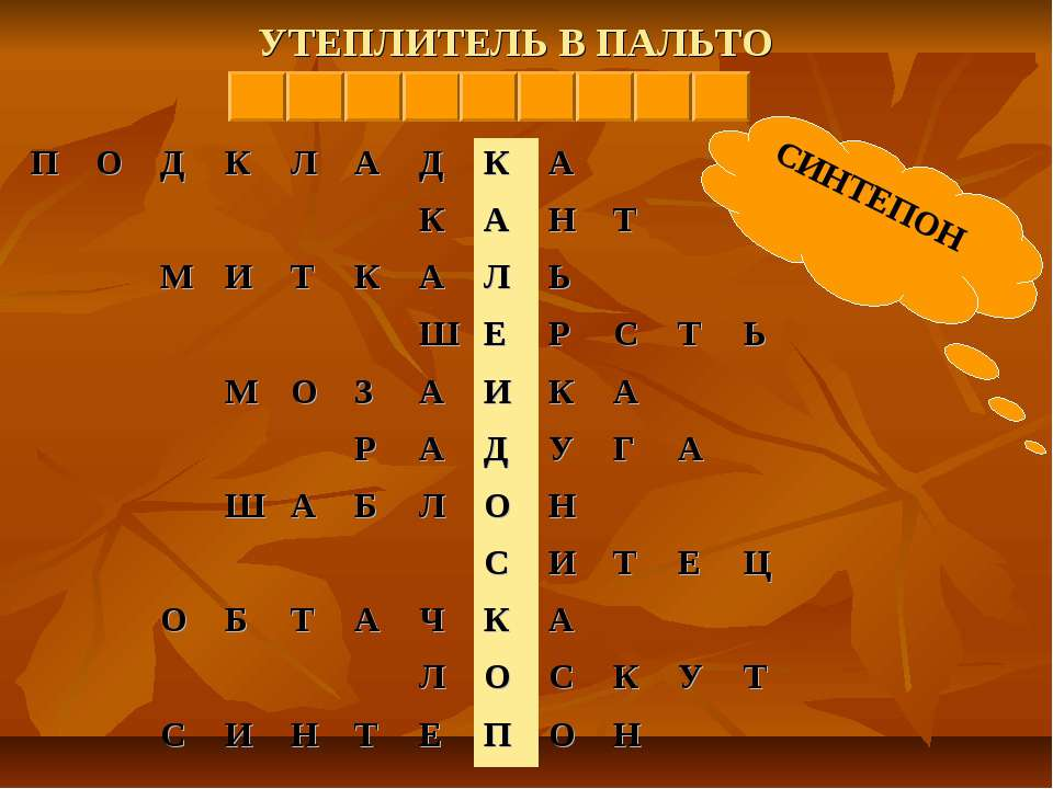 УТЕПЛИТЕЛЬ В ПАЛЬТО СИНТЕПОН