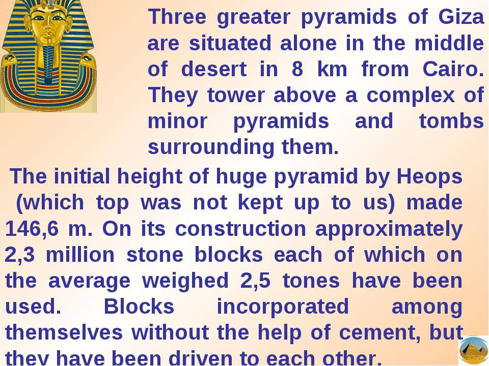 Three greater pyramids of Giza are situated alone in the middle of desert in ...