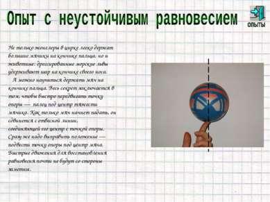 Не только жонглеры в цирке легко держат большие мячики на кончике пальца, но ...