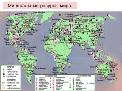 Минеральные ресурсы мира.