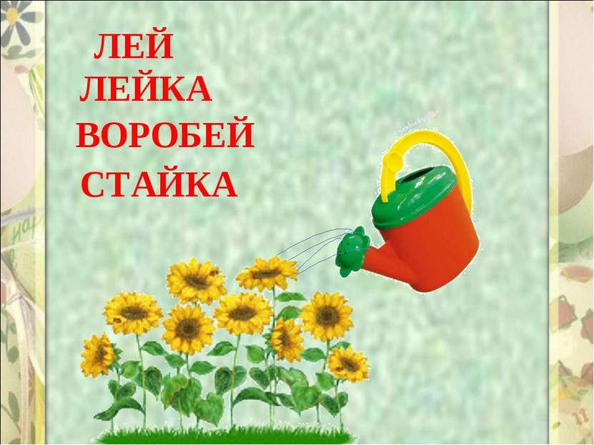 ЛЕЙ ЛЕЙКА СТАЙКА ВОРОБЕЙ