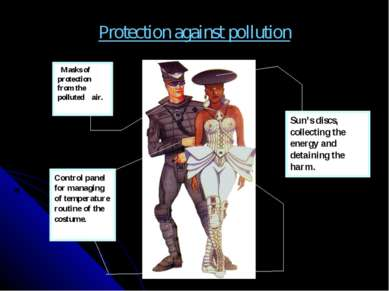 Protection against pollution Masks of protection from the polluted air. Sun's...