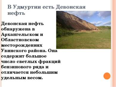 В Удмуртии есть Девонская нефть Девонская нефть обнаружена в Архангельском и ...