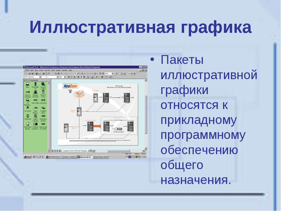 Иллюстративная графика Пакеты иллюстративной графики относятся к прикладному ...