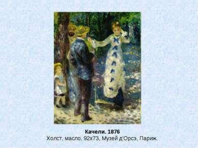 Качели. 1876 Холст, масло, 92x73, Музей д'Орсэ, Париж.