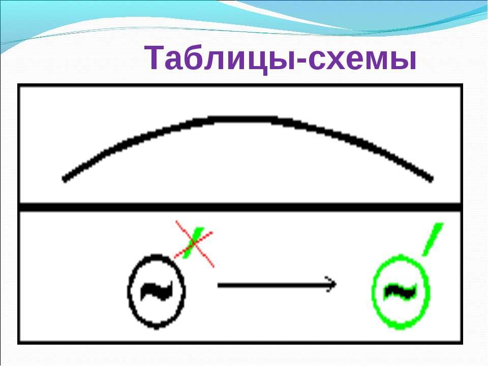 Таблицы-схемы