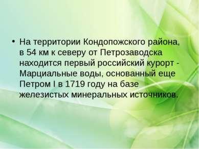 На территории Кондопожского района, в 54 км к северу от Петрозаводска находит...