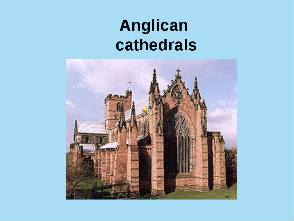 Anglican cathedrals