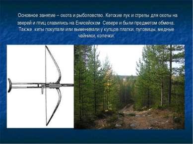 Основное занятие – охота и рыболовство. Кетские лук и стрелы для охоты на зве...
