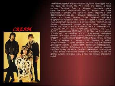 Хэви-метал родился из ужесточённого звучания таких групп конца 60-х годов, ка...