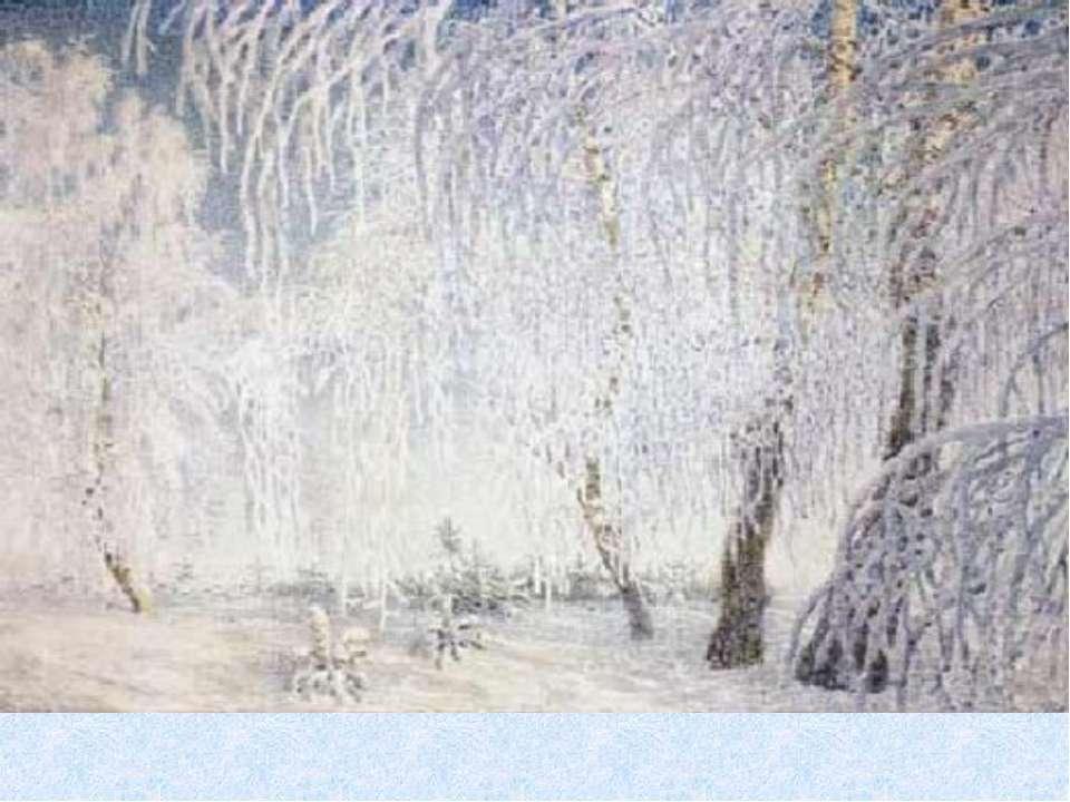 белыми арками белого снега тёмно-зелёные ветви лиловых шишек. красногрудых кл...