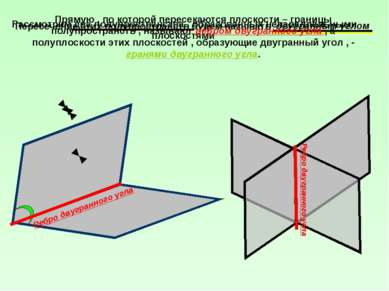 Рассмотрим два полупространства , образованных непараллельными плоскостями Пе...