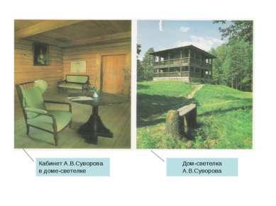 Кабинет А.В.Суворова в доме-светелке Дом-светелка А.В.Суворова