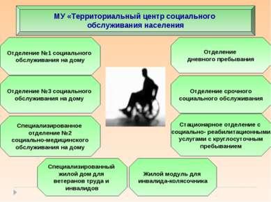 МУ «Территориальный центр социального обслуживания населения Отделение №3 соц...