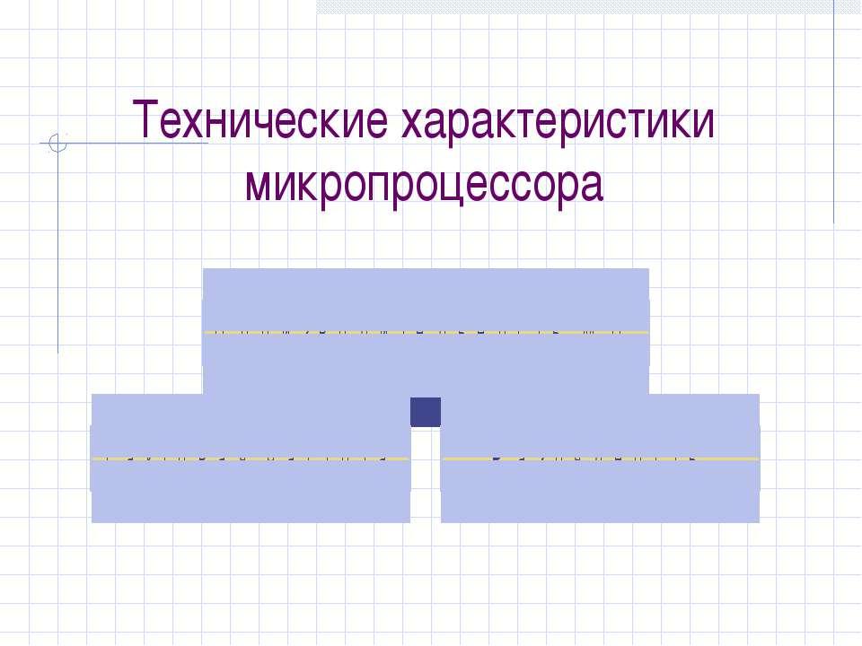 Технические характеристики микропроцессора