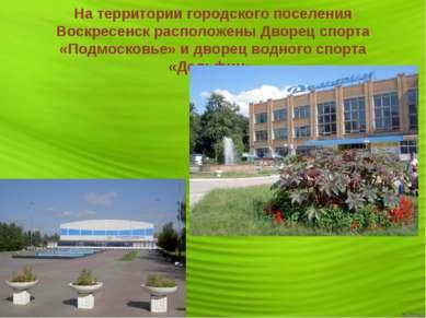 На территории городского поселения Воскресенск расположены Дворец спорта «Под...