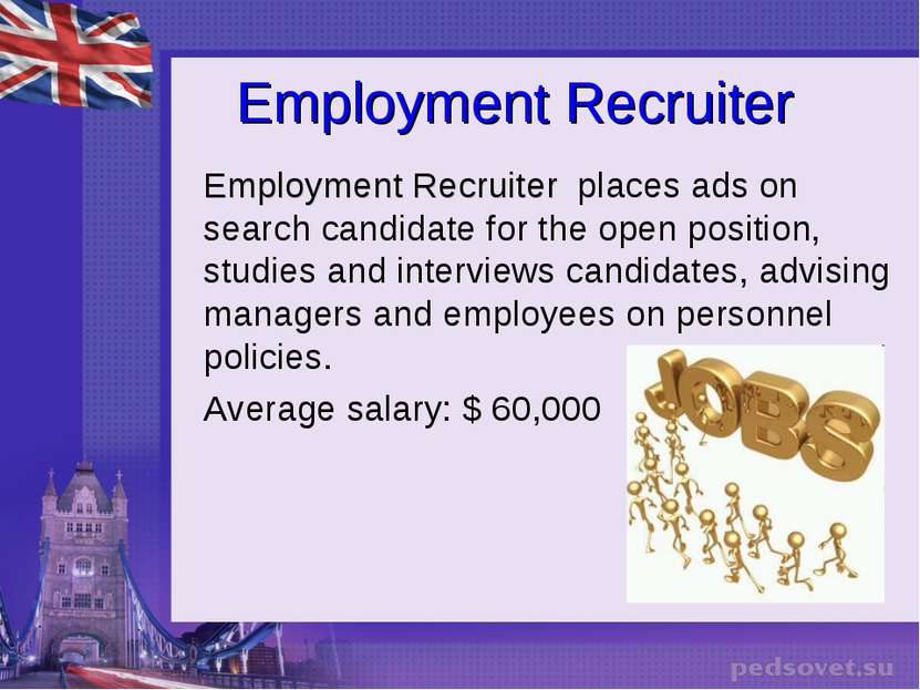 Employment Recruiter Employment Recruiter places ads on search candidate for ...
