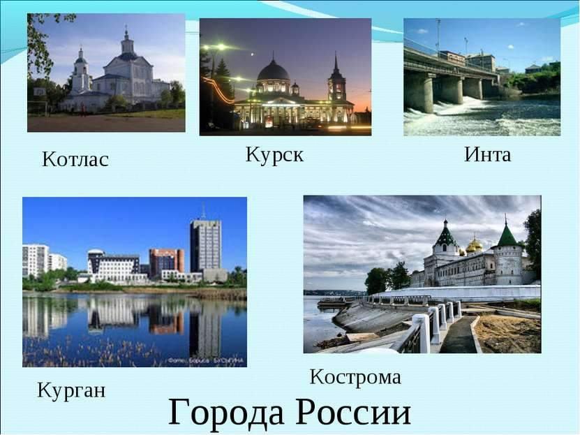 Котлас Курган Кострома Курск Города России Инта