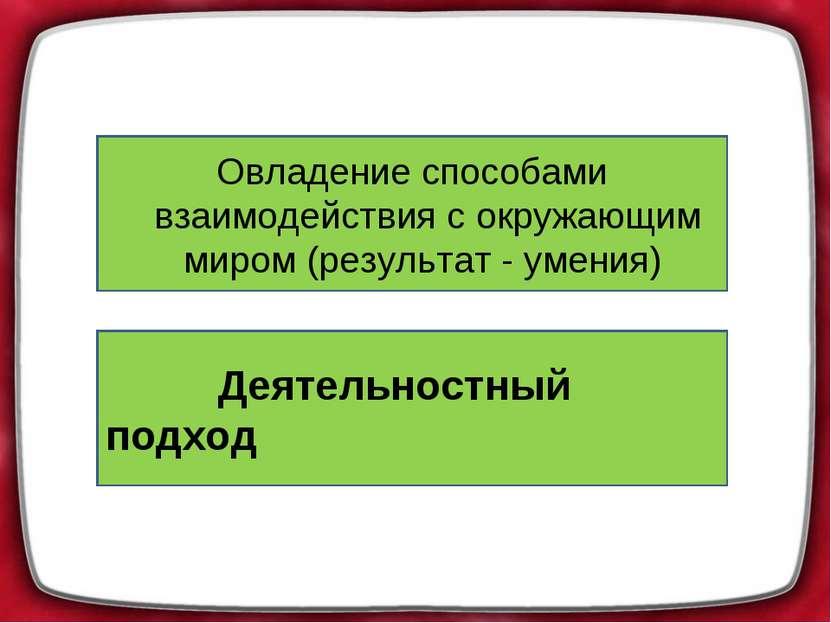 Усвоение фактов (результат-знание) Овладение способами взаимодействия с окруж...