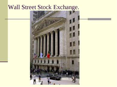 Wall Street Stock Exchange.