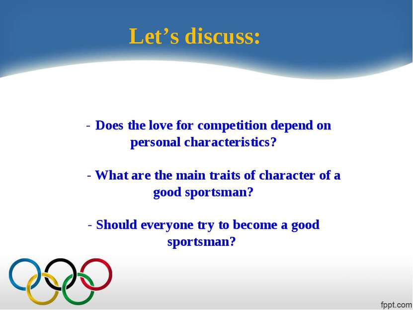 - Does the love for competition depend on personal characteristics? - What ar...